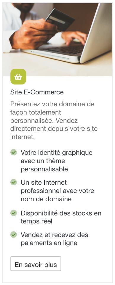 Description module e-commerce Baqio
